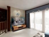 广西万博手机iOS兴宁区中海国际客厅卧室万博体育官网客户端案例